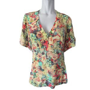 Nanette Lepore Floral Silk Blouse Size 10